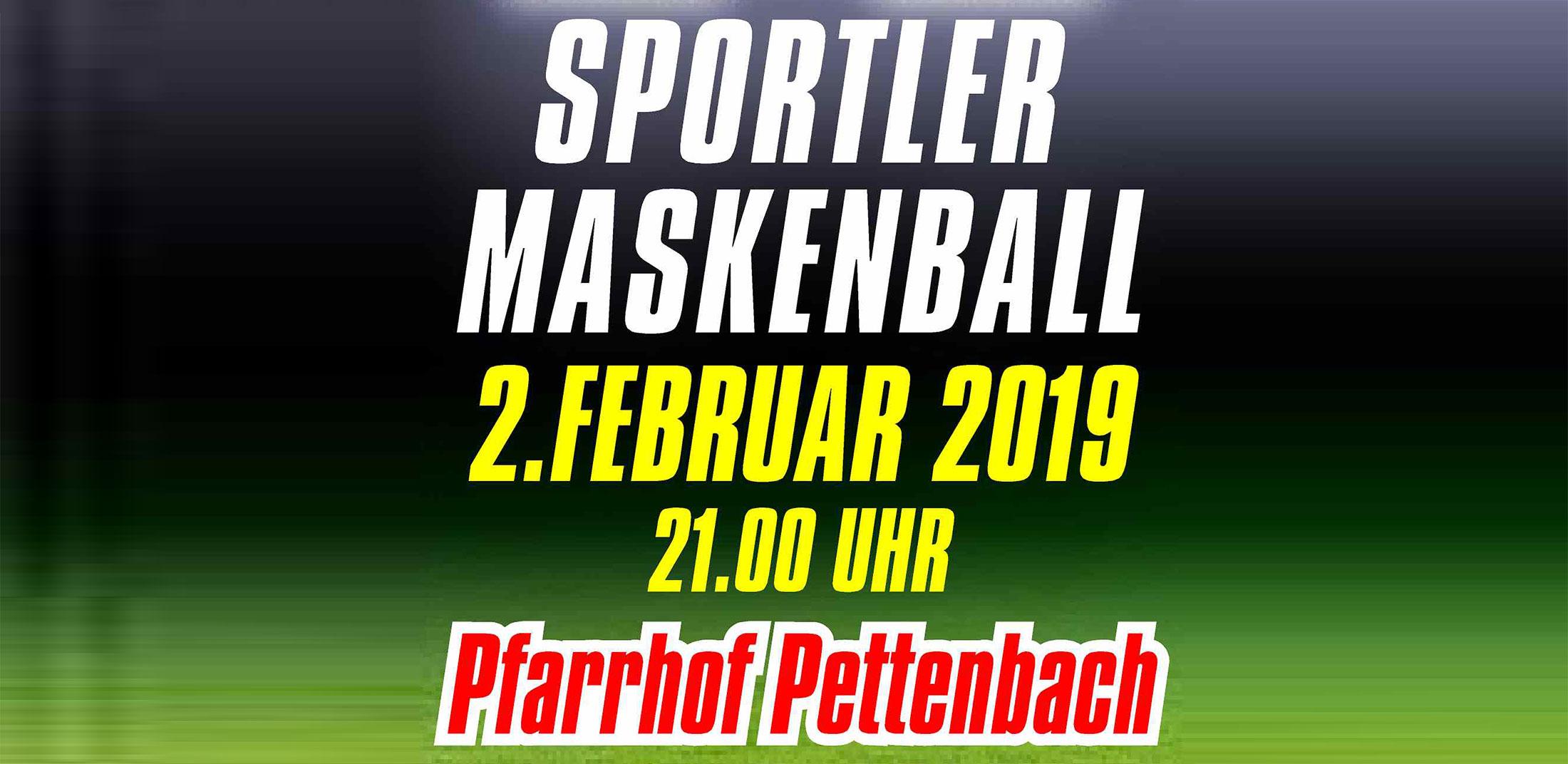 Sportler Maskenball 2019