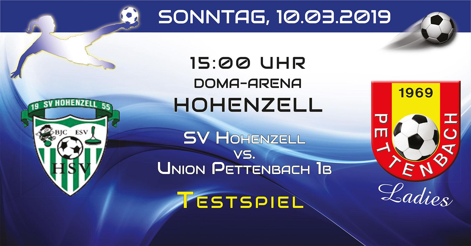 1b-Testspiel Hohenzell